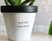 large planter, aloe you vera much planter, plant not included, gift for Mothers Day, Planter, Bridesmaid Gift, Anniversary, Painted Planter