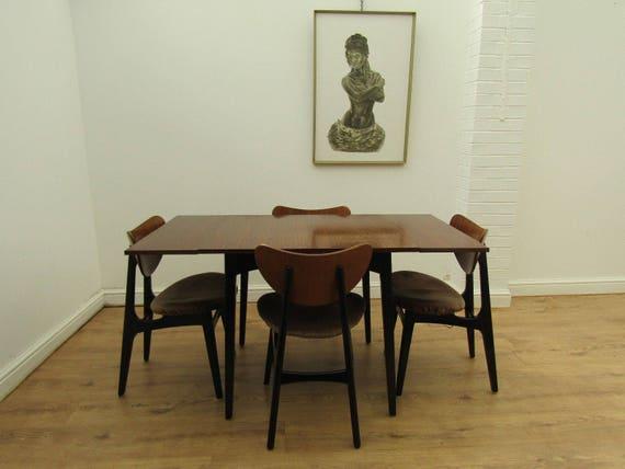 Awe Inspiring Mid Century Modern Retro Teak G Plan Dining Table 4 Butterfly Dining Chairs Dailytribune Chair Design For Home Dailytribuneorg