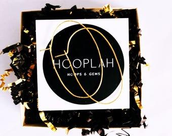 Gold Oval Hoop Earrings / Oval Hoop Earrings / Thin Gold Hoop Earrings / Lightweight Oval Hoops / Gold Hoop Earrings