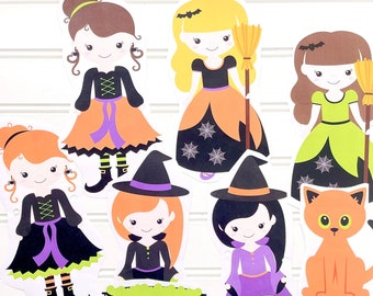 Halloween Witch Party Printables, Witches Night Out Decor,  Kids Halloween Party Printables