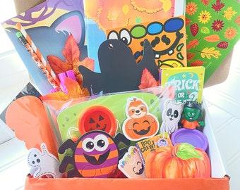 Halloween Gift for Kids, Kids Busy Box, Kids Activity Box, Halloween Busy Box, Grandchild Gift