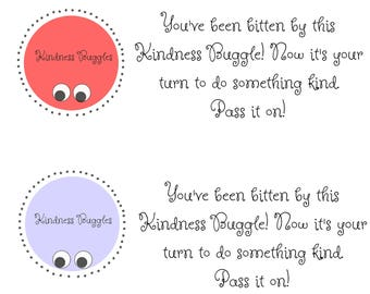 Kindness Buggles Printable Service Note for Kindness Buggles Craft Kits