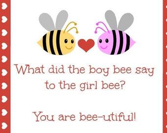 Cute Jokes Printable Cards for Kids or Lunchbox Jokes