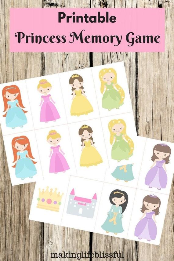 Printable Princess Memory Go Fish Game