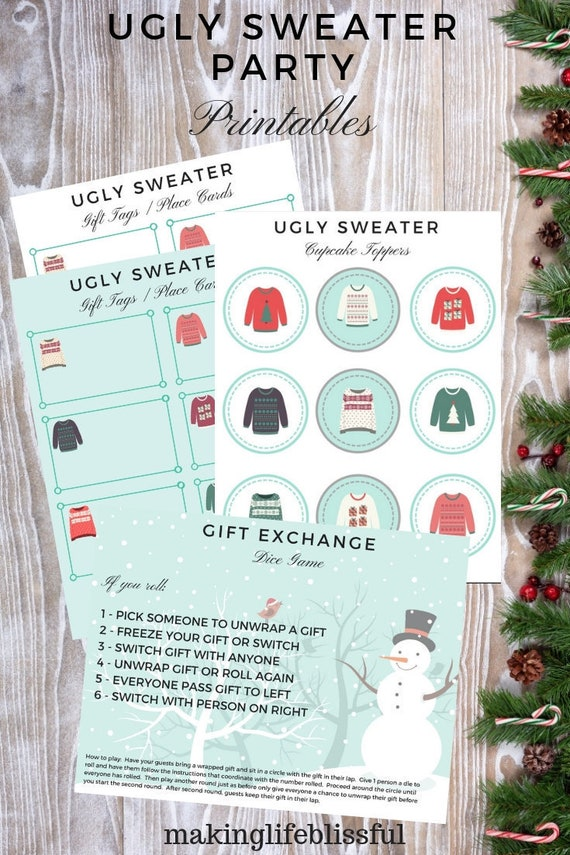Cute Ugly Sweater Printables!