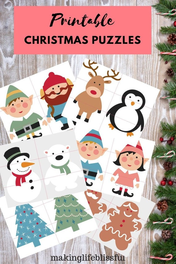 Christmas Puzzles For Kids Etsy