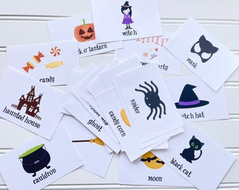 Halloween Guessing Game Printable, Halloween Charades, Halloween Family Game