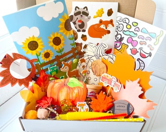 Thanksgiving Crafts for Kids, Kids Busy Box, Fall Gift for Kid, Kids Fall Activity Kit,