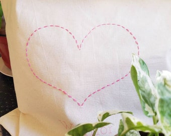 NEW! 'Warrior Love' Hand-Stitched Custom Tote for Mastectomy Warriors