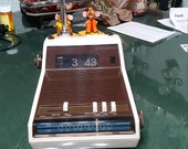 1970s JC Penney 39 s 3755 AM FM Flip Clock Radio With Reading Lamp Working