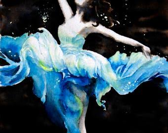 Underwater girl - original painting