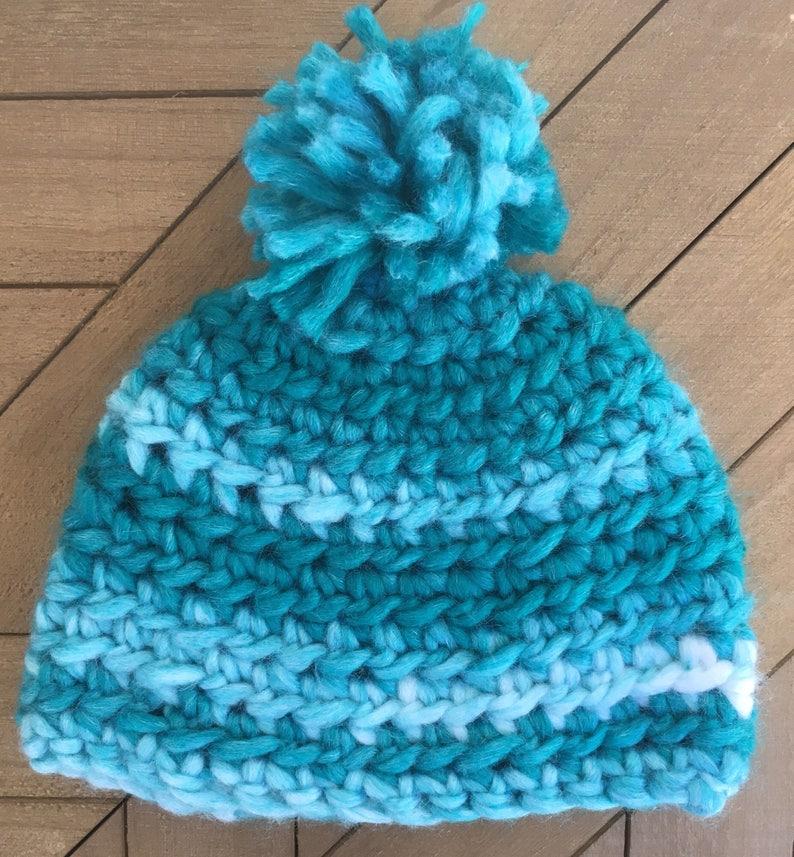 Pom Pom Crochet Newborn Beanie Pom Baby Hat Baby Boy Hat Etsy