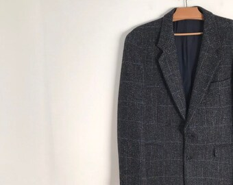 14c24b9638d CACHAREL vintage plaid oversized button down woolen blazer / s / m / 1980s