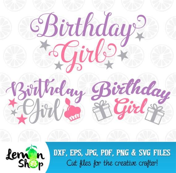 Verjaardag Meisje Svg Birthday Party Monogram Birthday Girl Etsy