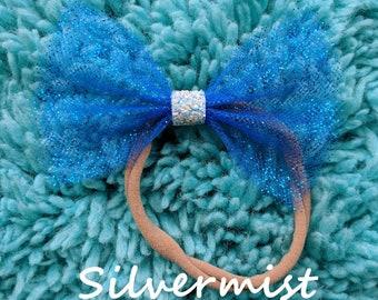 Silvermist Blue Sparkle Bow