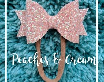 Peaches & Cream Bow