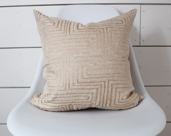 """18"""" x 18"""" Rose Gold Pillow Cover"""