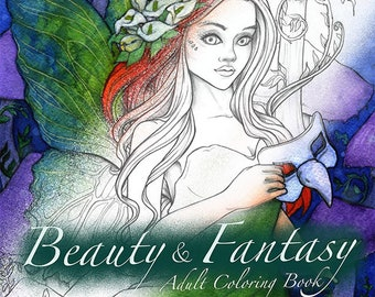 Beauty and Fantasy Coloring Book I Digital Only I PDF