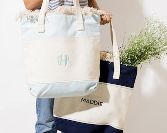 Bridesmaid Tote bag Beach tote Personalized Bag Women, Lunch Bag Cotton Canvas Tote, Christmas Gift for her, Proposal Bag
