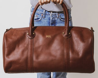 Gifts for Dad Personalized gifts for Dad | Father's Day Gift | Dad Gifts | Personalized Leather Weekender | Fathers Day Gift Personalized