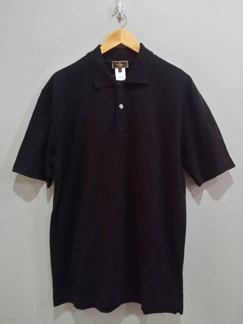 40c02cd5 Vintage Fendi Polo T Shirt Size M Made in Italy   Etsy