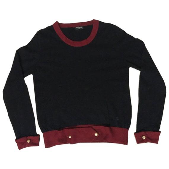 Vintage Chanel Cashmere Cardigan Jumper Sweater Bl