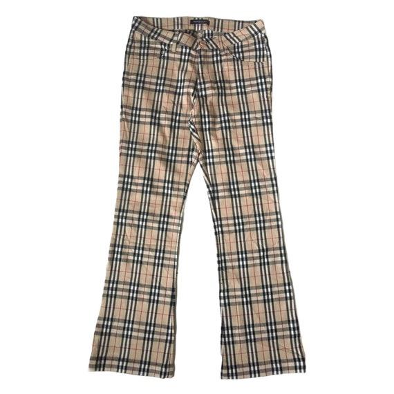 Vintage BURBERRY London Nova Check Pants Size 29