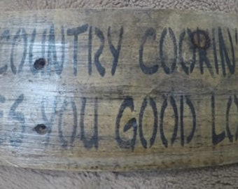 Country Cookin Makes You Good Lookin - Rustic Sign - Pallet Wood Sign