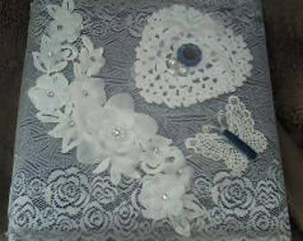 Custom Photo Album - Lace Photo Album - Shabby Chic Photo Album