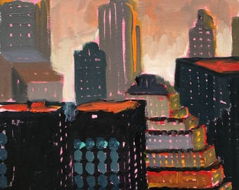 Sunset/City Skyscrapers