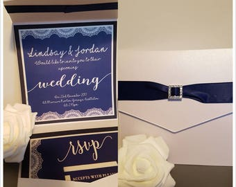 NAVY & IVORY INVITATION