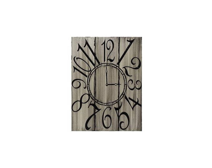 "Grey 18"" x 24"" Rectangle Wall Clock"