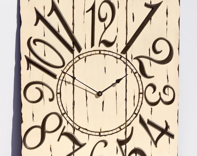 "24"" x 30"" Classic Cream Wall Clock"