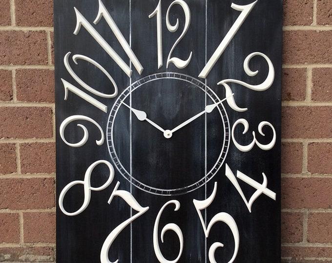 """Unique 24"""" x 30"""" Wall Clock"""