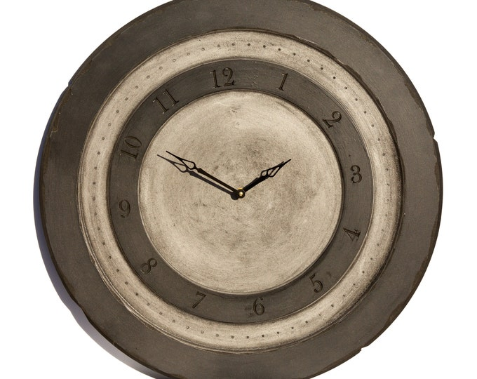 Mysterious Black And Grey 24 Inch Circle Clock