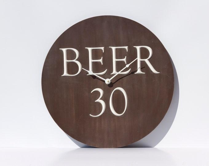 Unique Brown Beer Clock