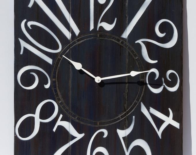 """24"""" x 30"""" Dark Navy and White Wall Clock"""