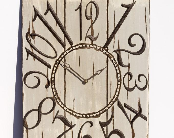 Rustic Light Grey 18x24 Inch Wall Clock