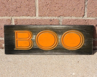 Colorful Halloween Boo Sign