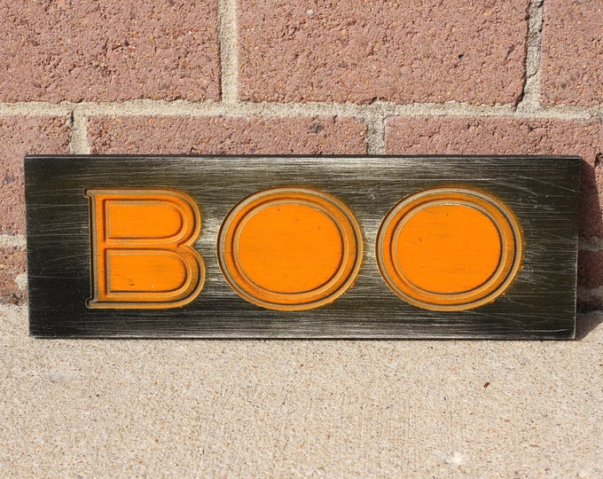 Colorful Halloween Boo Coat Rack
