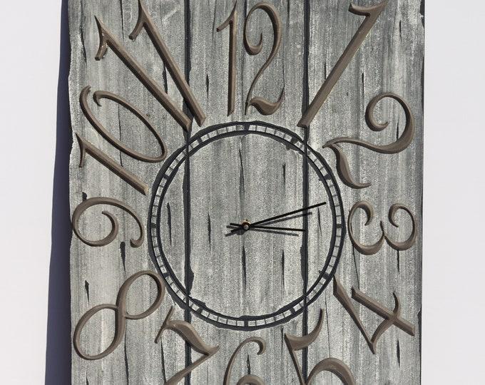 Rustic Grey 18x24 Inch Wall Clock