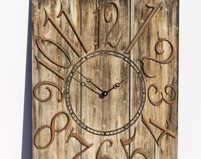 Rustic Brown 18x24 Inch Wall Clock