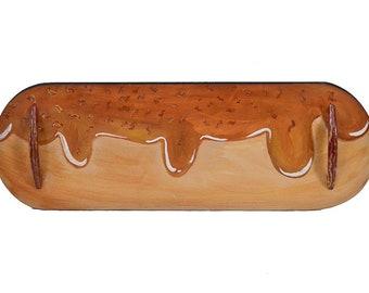 Maple Bacon Doughnut Serving Tray