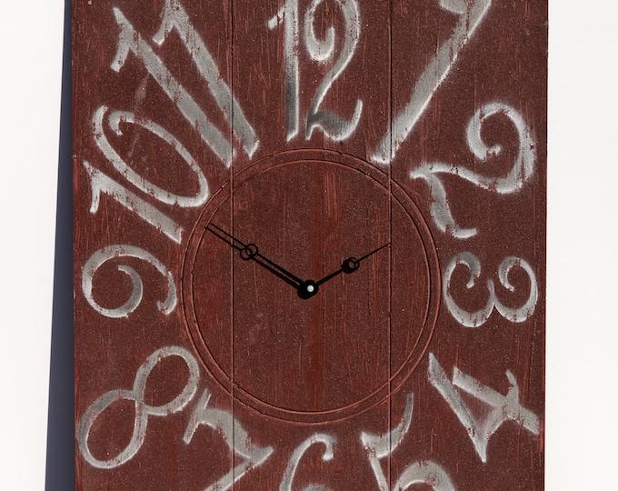 Unique Red Brick 18x24 Inch Wall Clock
