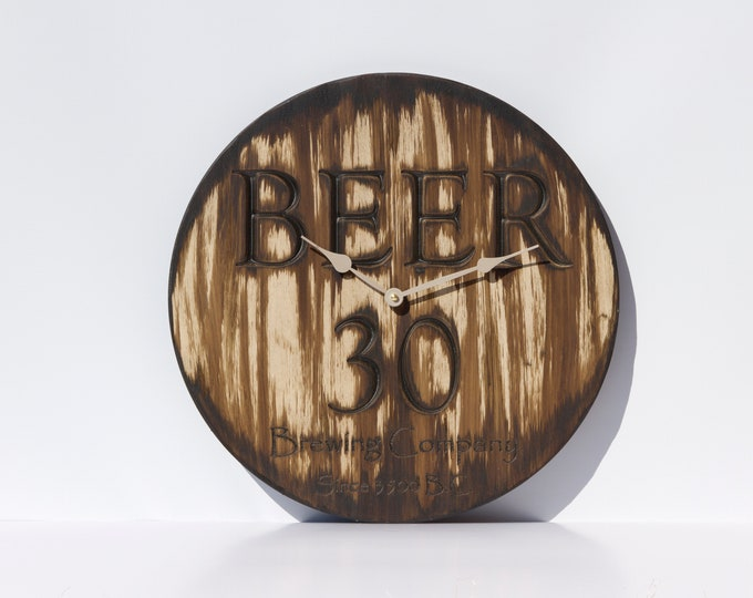 Weathered Brown 16 Inch Clock