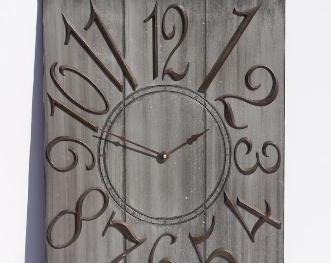 Modern Grey 18x24 Inch Wall Clock