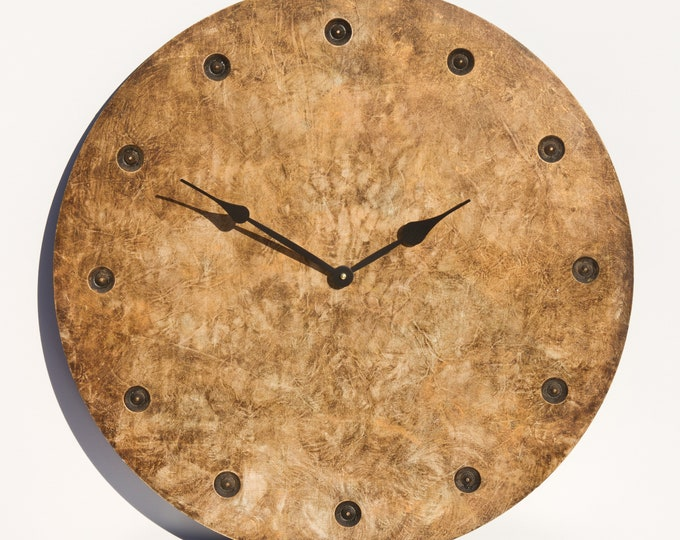Bright Golden Brown 24 Inch Circle Clock