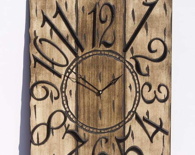 Rustic Light and Dark Brown 18x24 Inch Wall Clock