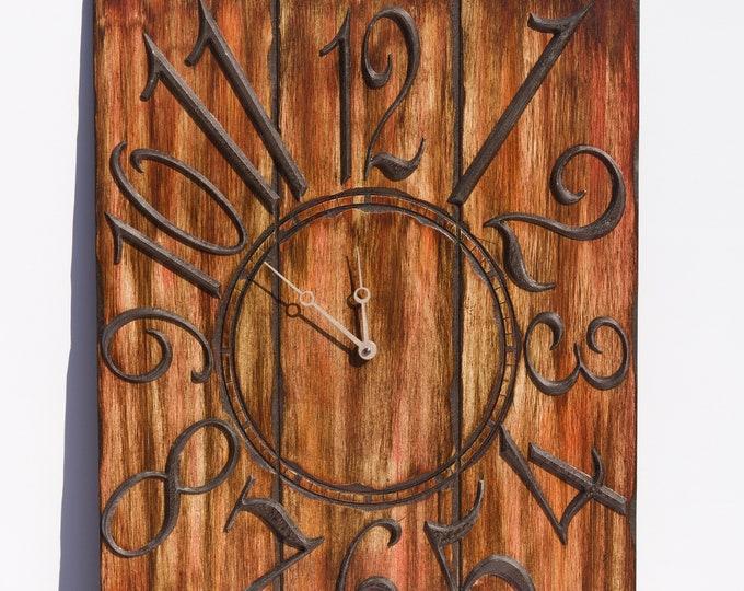 Rustic Walnut Brown 18x24 Inch Wall Clock