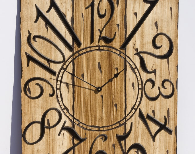 Rustic Brown/Light Brown 18x24 Inch Clock